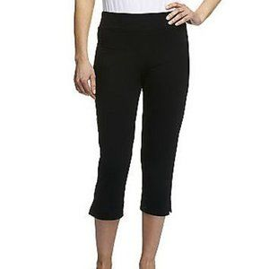PS Women with Control Black Crop Pants Petite Pull